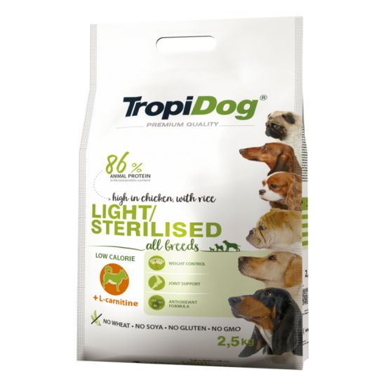 Tropidog Adult S&M&L Light...